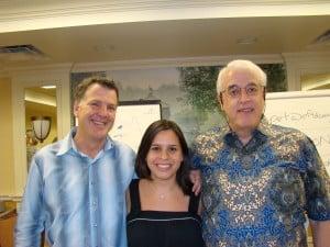Steve and David with Jessica Ortner USA 2008