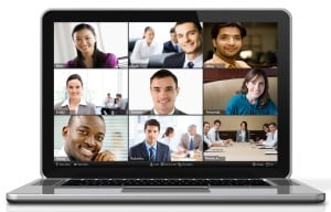 Group video conference screen